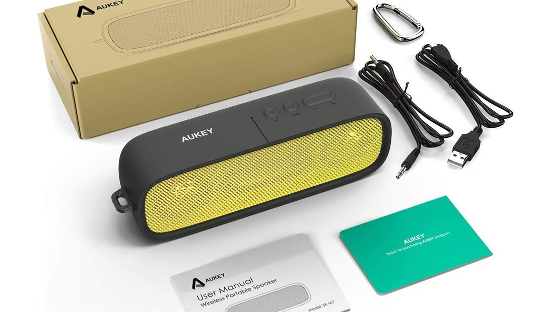 Win An Aukey Bluetooth Speaker