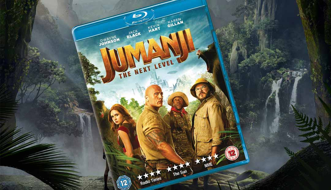 Win Jumanji: The Next Level Blu-Ray