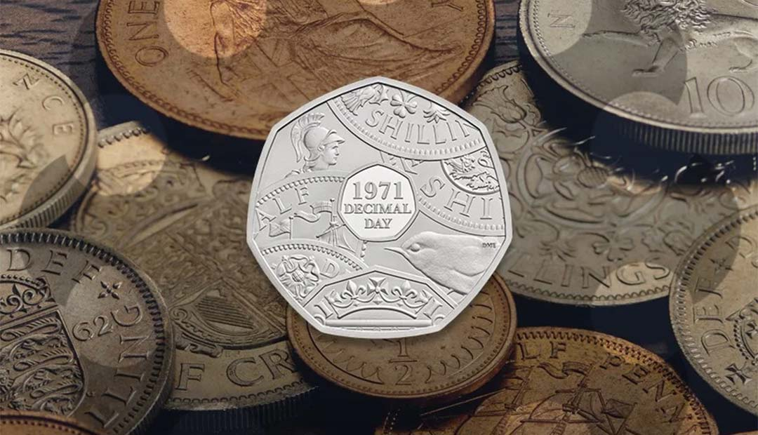 Win A Decimal Day 50p Coin Pack